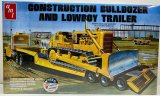 AMT - Construction Bulldozer and Lowboy Trailer 1/25