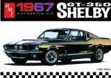 AMT - 1967 Shelby Gt 350 (Molded in White) 1/25
