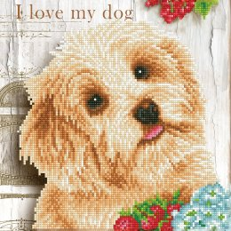 Broderie de Diamants - I Love my Dog