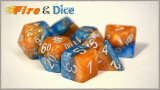 Halsies Dice - Fire and Dice 7 Dice Set