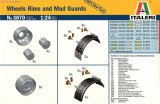Italeri Wheels Rims and Mud Guards 1/24