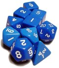 Dice Tube-10 Opaque - Blue