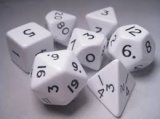 Dice Tube-10 Opaque - White
