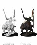 Pathfinder PF Deep Cuts Unpainted Minis: Orc on Dire Wolf