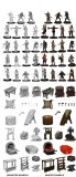 Wizkids Unpainted Minis Townspeople and Accessories