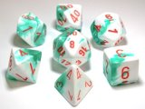 Gemini Set de 7 dés / 7-Die Set Mint Green White/Orange