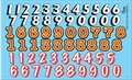 Rac Car Number Decal Sheet