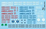 Ambulance And Emergency Decal Sheet