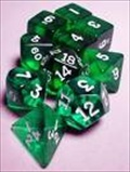 Dice Tube- 10 Transparent - Green