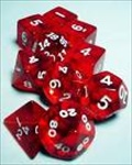 Dice Tube- 10 Transparent - Red