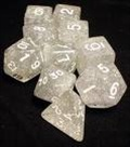 Dice Tube-10 Glitter - Clear