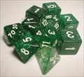 Dice Tube-10 Glitter - Green