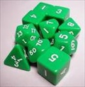 Dice Tube-10 Opaque - Green