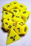 Dice Tube-10 Opaque - Yellow
