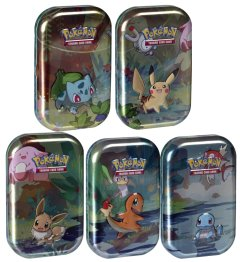 2019 Pokémon Mini Tins Kanto Friends