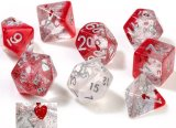 Sirius Dice: Set de 7 dés - Coeurs / Hearts Dice Set (d20 Suppl. en Bonus)
